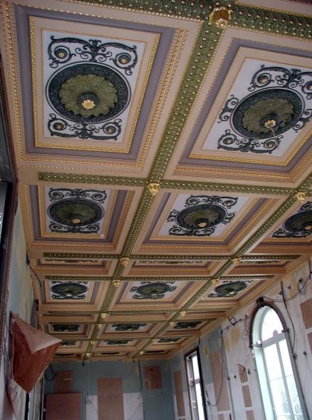 D coration sur un plafond en staff atelier de - Fresque du plafond de la chapelle sixtine ...