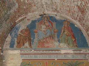 Restauration de peinture murale par Christophe GABRIEL pour le compte de l'atelier Arcoa