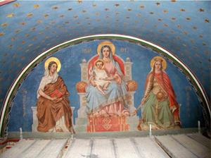 Restitution de peinture murale par Christophe GABRIEL pour le compte de l'atelier Arcoa