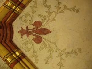Décor peint à motif floral
