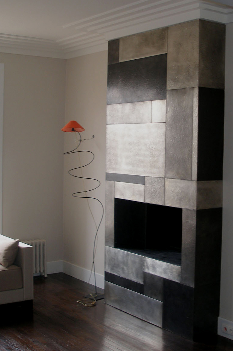 D coration en m tal chemin e contemporaine d corateur d - Decoration porte interieur peinture ...