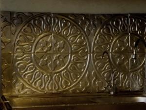 décorateur d'intérieur. décoration murale en métal