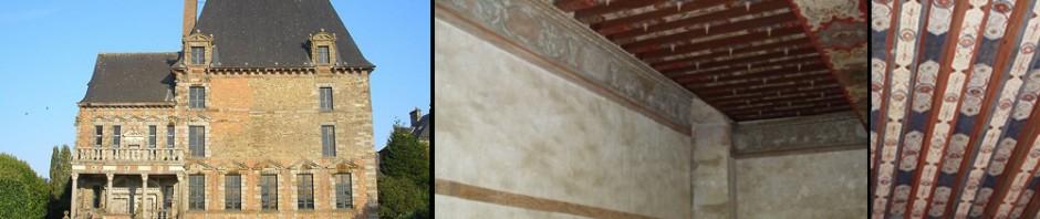 restauration_peinture_murale_Chateau de Ducey decoration plan