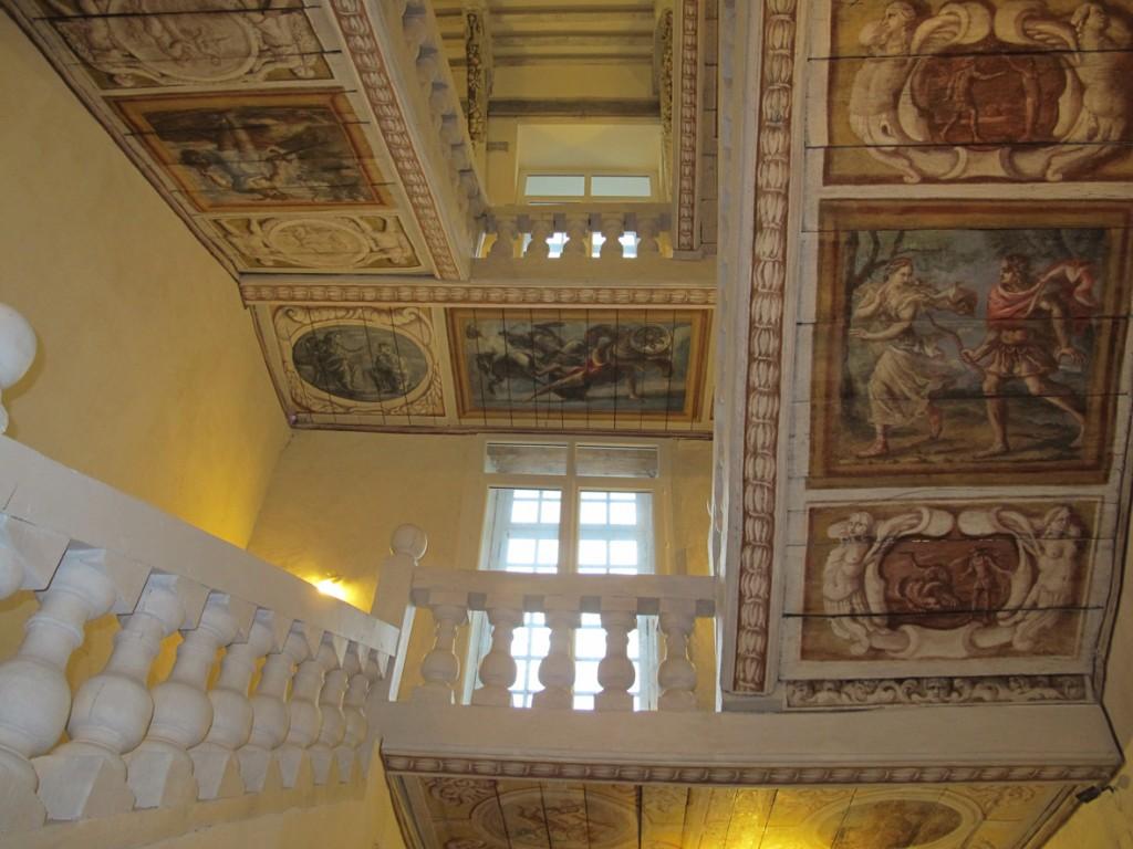 Création d'un décor peint dans un château, par Christophe GABRIEL pour le compte de l'atelier Arcoa