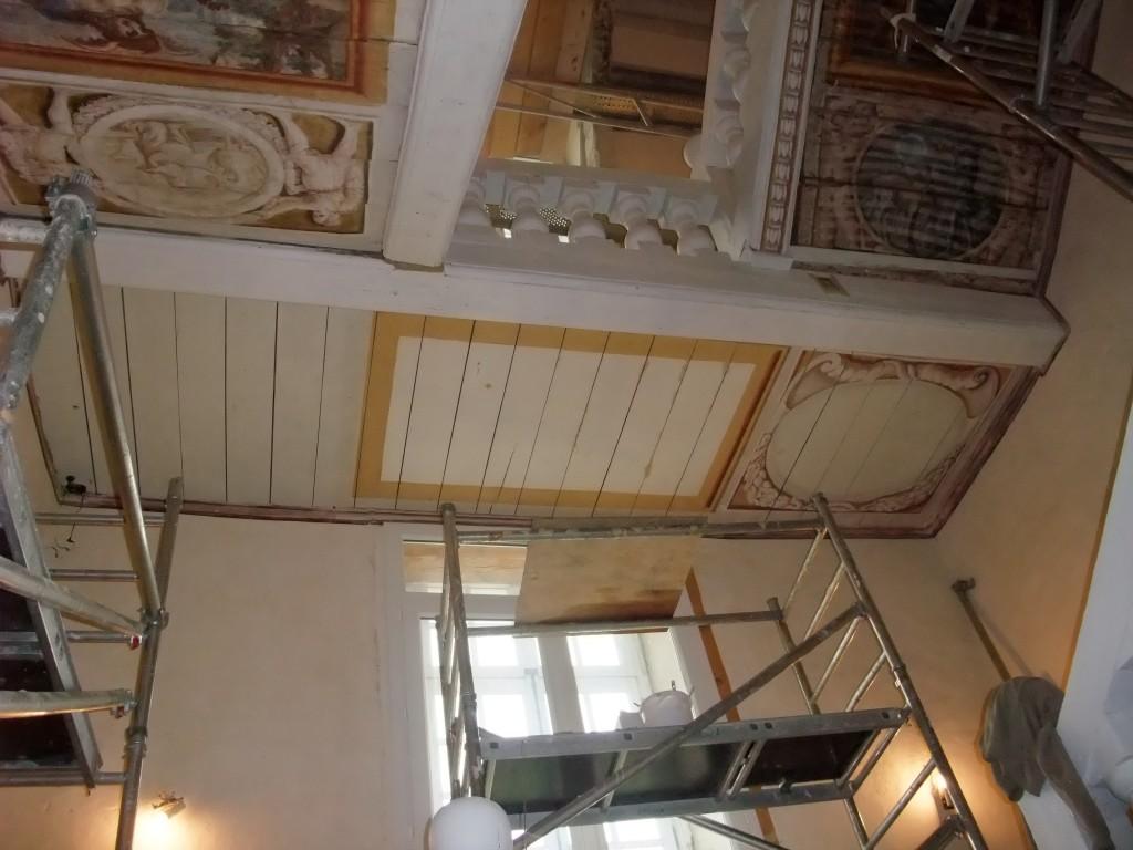 Création d'une peinture sur plafond  par Christophe GABRIEL pour le compte de l'atelier Arcoa