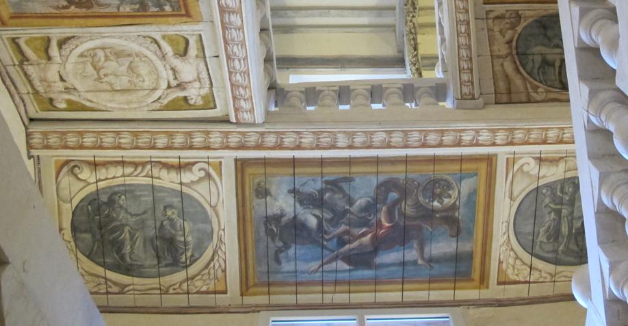 l pour le compte de l'atelier arcoaCr�ation peinture sous face escalier Christophe Gabriel