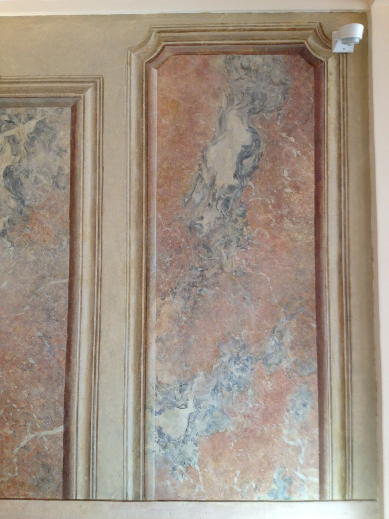 Restauration d'un décor peint / stuc marbre