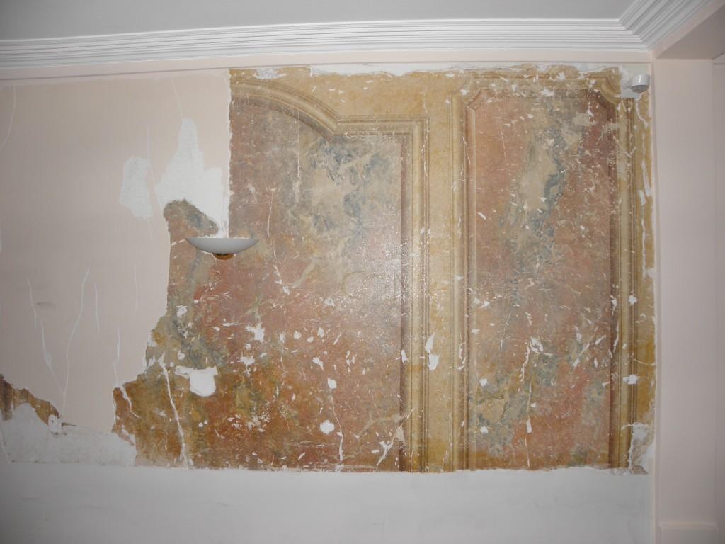 Décors peints / Restauration d'un stuc marbre