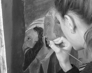 Peinture murale ,fresque
