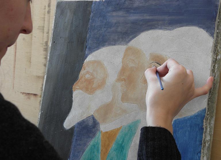 école de peinture murale,fresque,trompe l'oeil