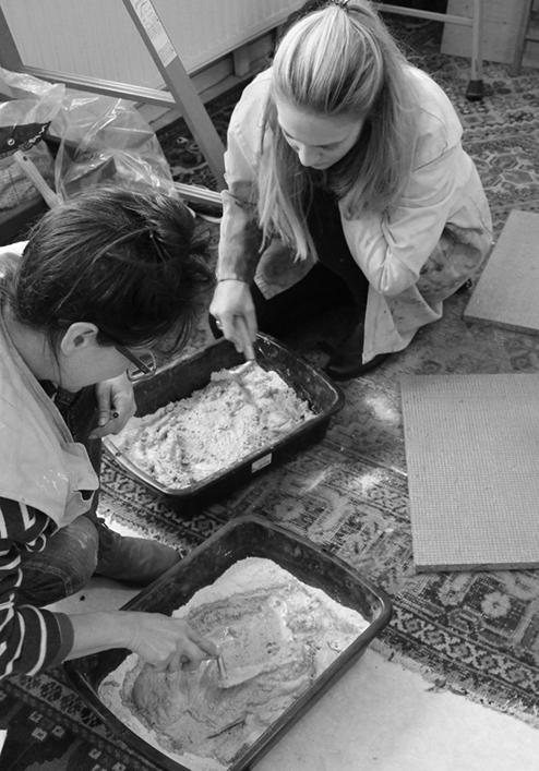 La pratique de la chaux, stage de fresque