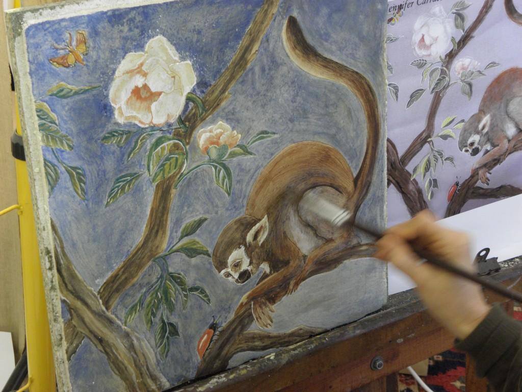 technique de la fresque murale