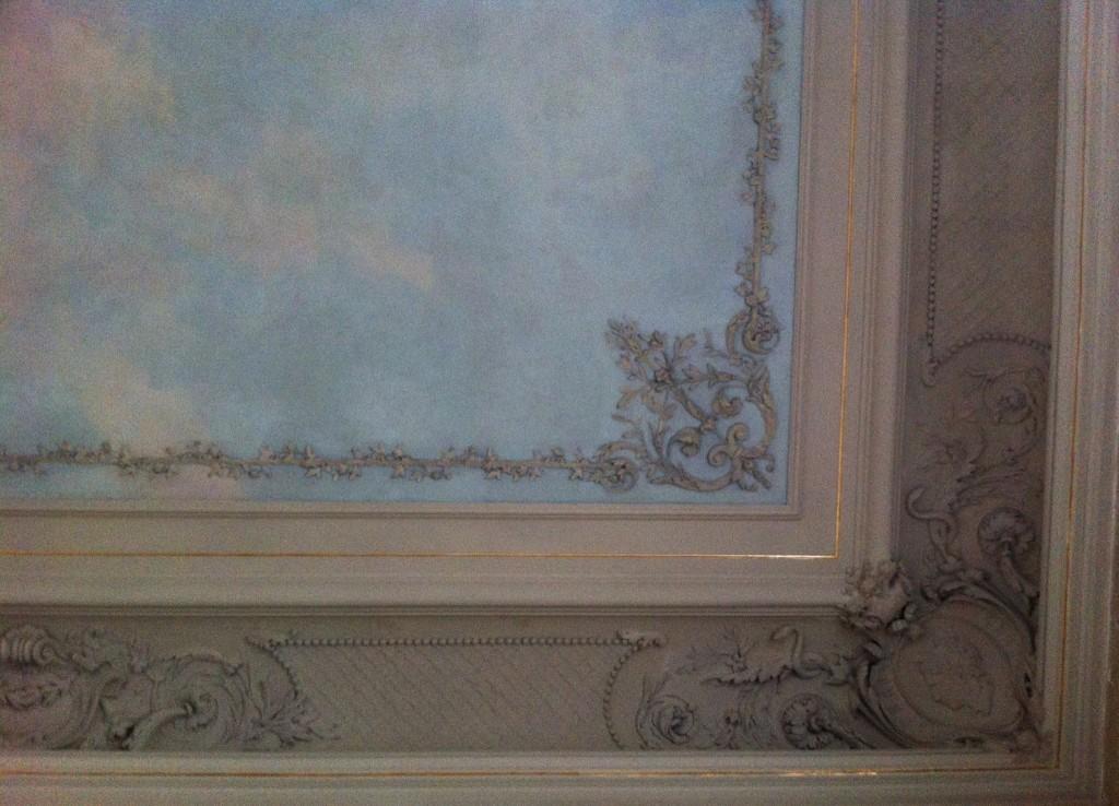 Restauration d'un décor peint à Paris