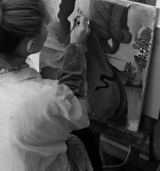 """Formation en fresque murale . Technique à """"fresco"""""""