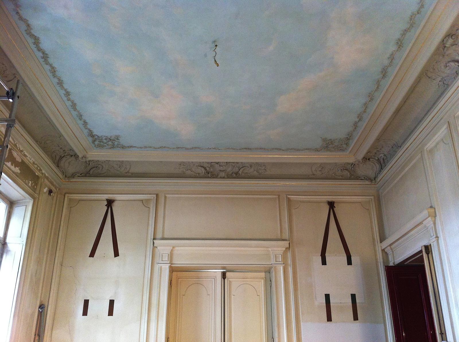 ciel en trompe l 39 il peinture cr ation restauration de peintures muralescr ation. Black Bedroom Furniture Sets. Home Design Ideas