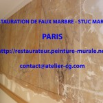 VIDEO de la restauration rénovation du faux marbre