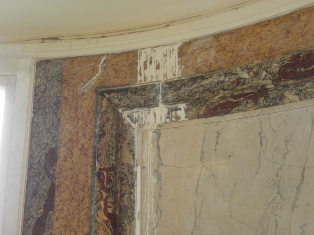 Stuc marbre en cours de rénovation.