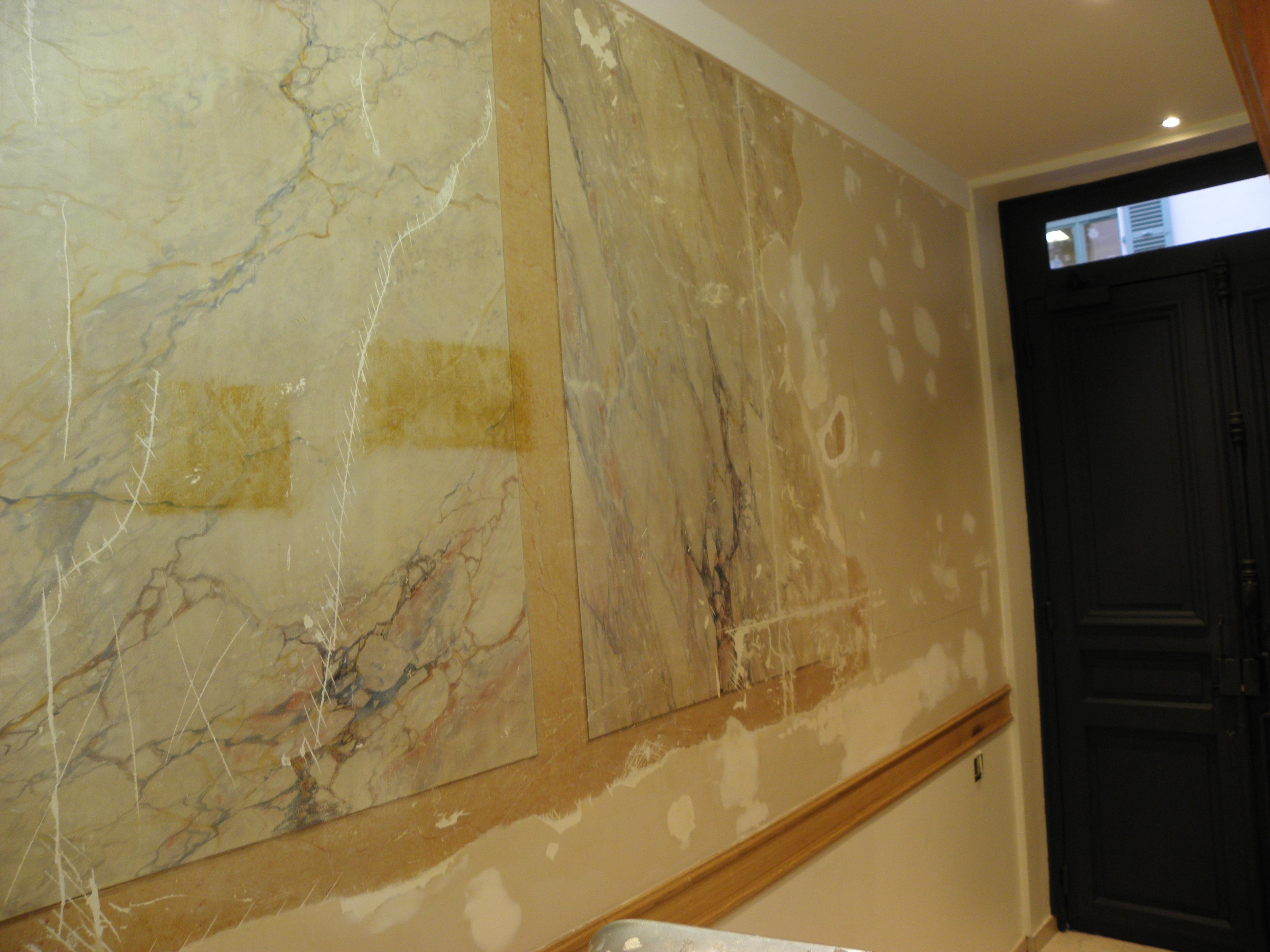 Best peinture stucco marbre contemporary transformatorio for Peinture murale stucco