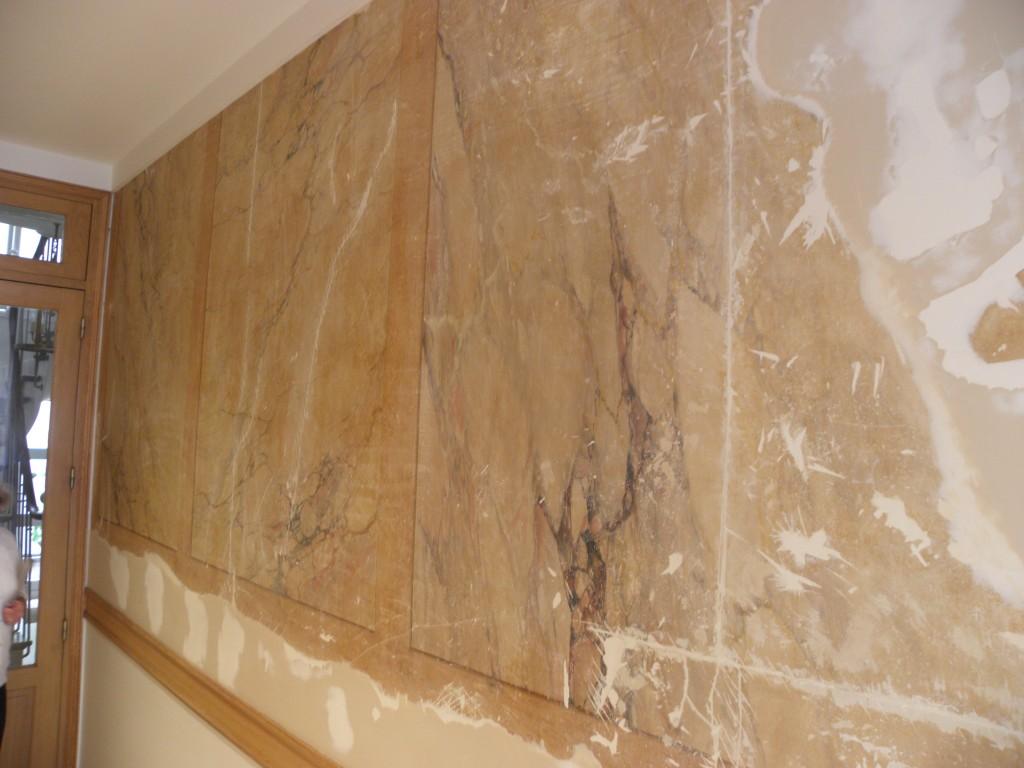 Décoration de faux marbre