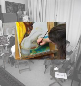 Initiation à la peinture murale, fresque, street art, graff, graffiti, dessin, illustration, dorure avec le pass culture